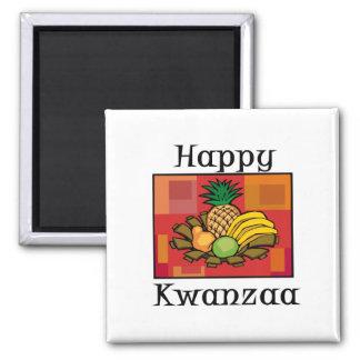 Glückliche Kwanzaa-Frucht Kühlschrankmagnete