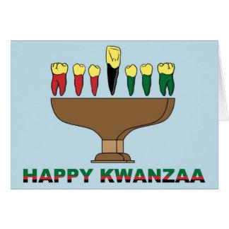 Glückliche Kwanzaa-Karte Karte