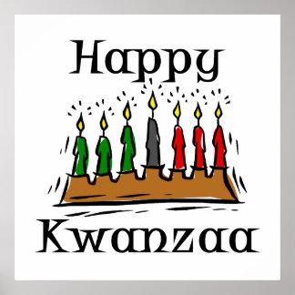 Glückliche Kwanzaa-Kerzen Posterdruck