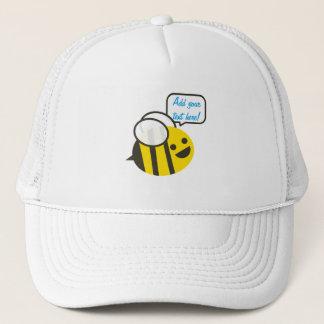 Glückliche lächelnde lustige Biene Truckerkappe