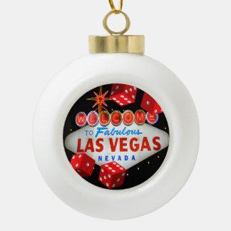 Glückliche Las- VegasKeramik-Ball-Verzierung Keramik Kugel-Ornament
