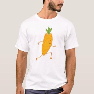glückliche laufende Karotte T-Shirt