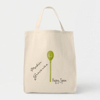 Glückliche Löffel-Lebensmittelgeschäft-Tasche Einkaufstasche