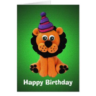 Glückliche Löwe-Geburtstags-Karte Grußkarte