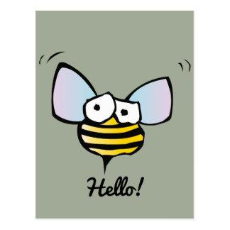 Glückliche lustige Biene Postkarte