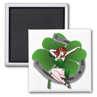 Glückliche Magnet-glücklichen St Patrick Quadratischer Magnet