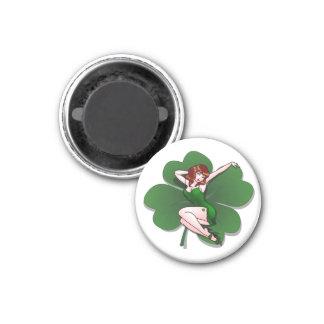 Glückliche Magnet-glücklichen St Patrick Runder Magnet 2,5 Cm