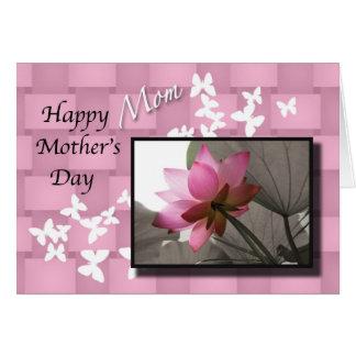 Glückliche Mamma Lotus der Mutter Tagesmit blumen Karte