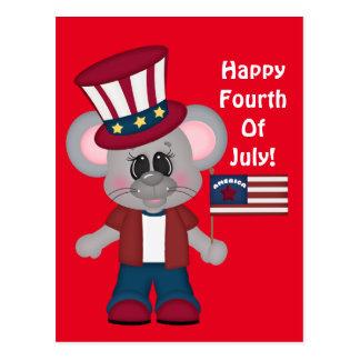 Glückliche Mäusepostkarte Julis vierter Postkarte