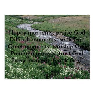, Glückliche Momente, Lob GodDifficult momen… Postkarte
