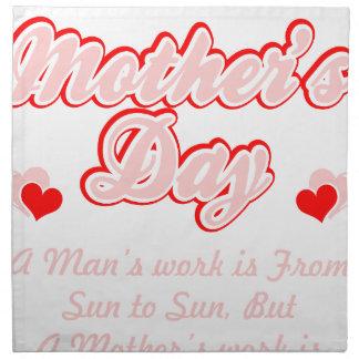 Glückliche Mutter-Tagesmutter-Arbeit ist- nie Stoffserviette