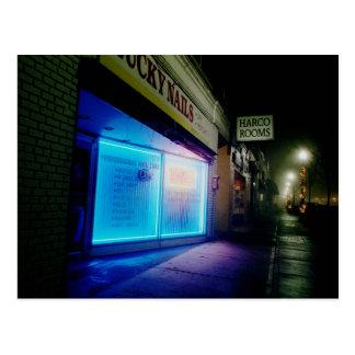 Glückliche Nägel - cooles Blau in der Nacht Postkarte