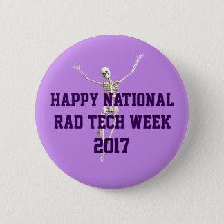 Glückliche nationale krasse Tech-Woche Runder Button 5,7 Cm