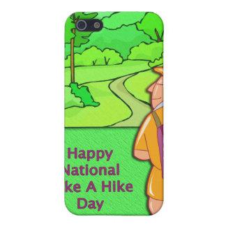 Glückliche nationale nehmen einen Wanderungs-Tag iPhone 5 Cover