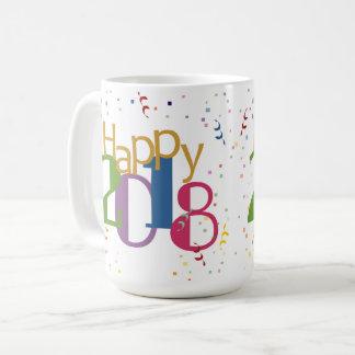 Glückliche neue Jahre der Tassen-2018 Kaffeetasse