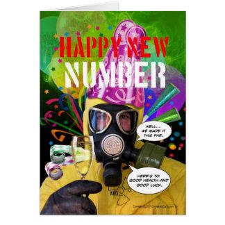 Glückliche neue Zahl-Karte Bens Dover Karte