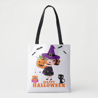 Glückliche niedliche Hexe-Tasche Halloweens Tasche