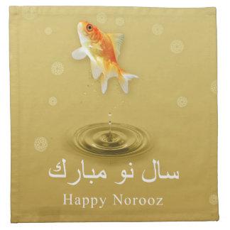 Glückliche Norooz Fische - persische neues Serviette