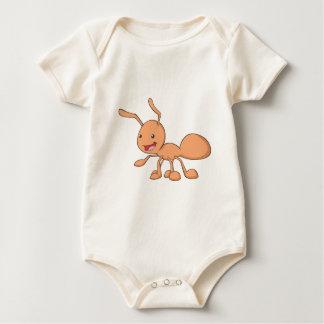 Glückliche orange Ameise Baby Strampler