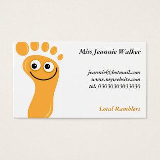 Glückliche orange Füße Visitenkarte