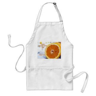 Glückliche Orangensaft-TagesSchürze am 4. Mai Schürze