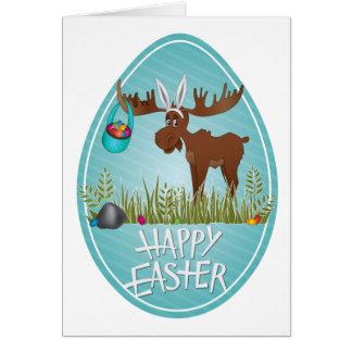 Glückliche Ostern-Elche - Karte