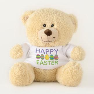 Glückliche Ostern gemalte Teddybär