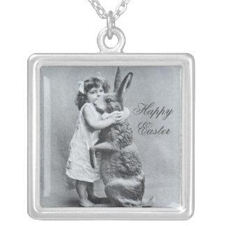 Glückliche Ostern-Halsketten-Geschenk-Antiken-Häsc