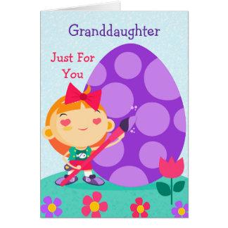 Glückliche Ostern-Karte zu meiner Enkelin Karte