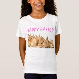 Glückliche Ostern-Reihe des niedlichen T-Shirt