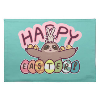 Glückliche Ostern-Trägheit Stofftischset