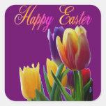 Glückliche Ostern-Tulpen Stickers