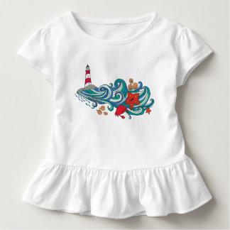 Glückliche Ozean-Geschöpfe Kleinkind T-shirt