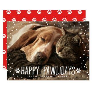 Glückliche Pawlidays | Feiertags-Foto-Karte Karte