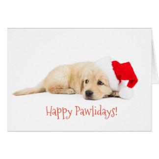 Glückliche Pawlidays Weihnachtskarte Karte