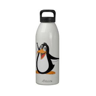 Glückliche Penguinanimations-Cartoonillustration Trinkflaschen
