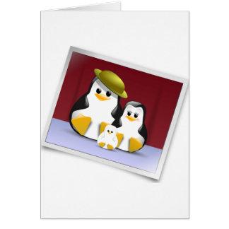 Glückliche Penguins-Mitteilungskarten Karte
