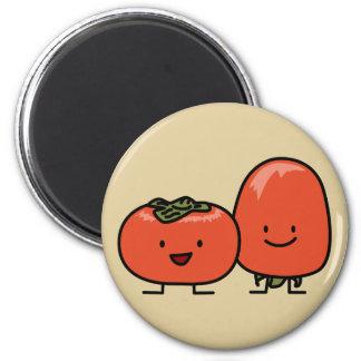 Glückliche Persimone-Paare Runder Magnet 5,1 Cm