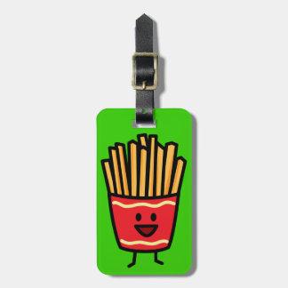 Glückliche Pommes-Frites Kofferanhänger