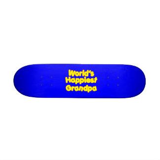 Glückliche positive großväterliche Weltglücklichst Skateboard Bretter
