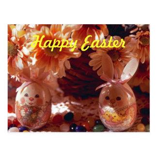 Glückliche Postkarte-Dekorative Eier Ostern Postkarte