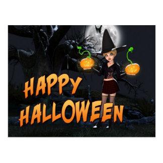 Glückliche Postkarte Halloweens Skye