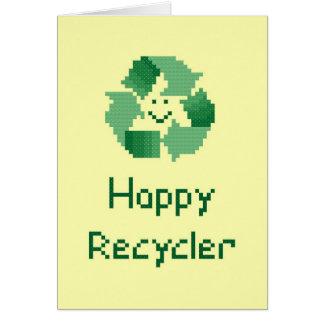 Glückliche Recycler-Karte Karte