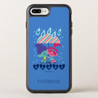 Glückliche Regen-Tropfen der Schleppangel-| OtterBox Symmetry iPhone 8 Plus/7 Plus Hülle