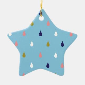 Glückliche Regentropfen Keramik Ornament