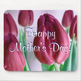Glückliche Rosey der Tag der Mutter Tulpen Mauspads