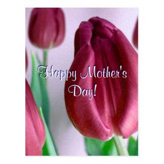 Glückliche Rosey der Tag der Mutter Tulpen Postkarten