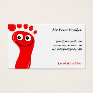 Glückliche rote Füße Visitenkarte