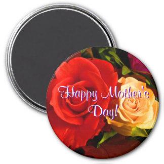 Glückliche rote gelbe Rosen der Mutter Tages Kühlschrankmagnet
