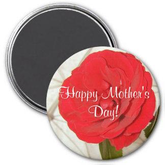 Glückliche Rote Rose der Mutter Tages Kühlschrankmagnete
